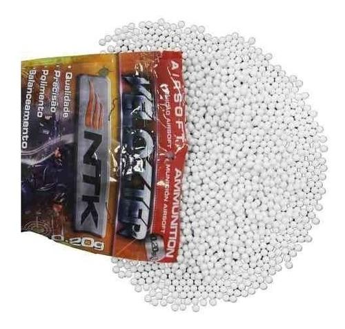 Balines Plásticos Airsoft Bbs 6mm Ntk 2000u 0.12g