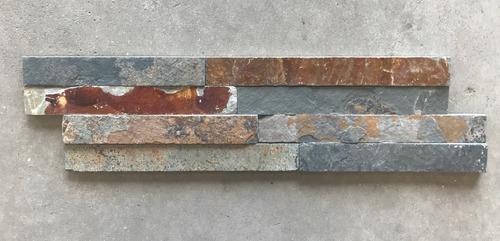 Revestimiento Piedra Natural - Paneles De 15 X 55 Cms Oxido