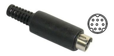 Conector Mini Din 8 Pines Macho Para Cable 8 Vias