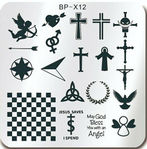 Placas Cuadradas Para Stamping Bp Variedad De Diseños