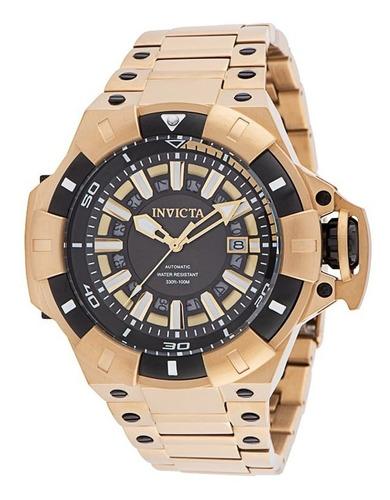 Relógio Masculino Automático Invicta Akula - 52,5 Mm,ouro.