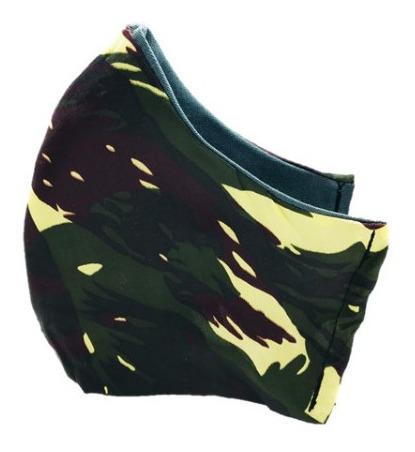 Mascara Dupla Proteção Tecido Lavável Modelo Camuflado Herói