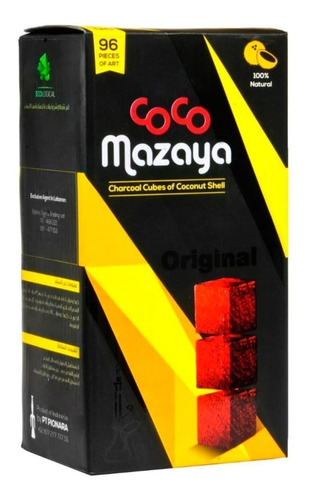 Carbon Natural Narguile 96 Cubos Sin Humo Sin Olor