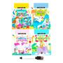 Coleção Infantil Livros Escreva E Apague Educativo Cognitivo