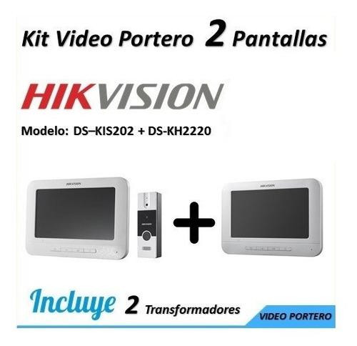Video Porteros Electrico Hikvision + Citofono + 2 Pantallas