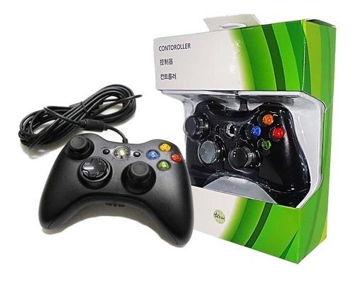 Controle Com Fio Xbox 360 E Pc Slim Joystick Original Xb