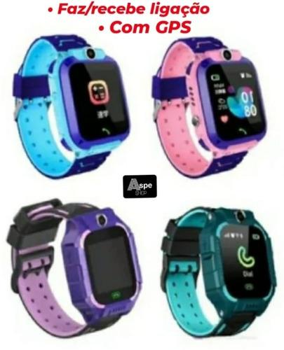 Relógio Inteligente Smartwatch Infantil Q-19 Gps Vídeo Sos