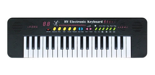 Teclado Piano Infantil Com 37 Teclas Microfone Bandstand