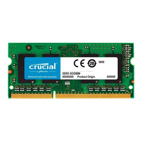 Memoria Sodimm 4gb Crucial Ddr3 1600mhz Notebook Mexx