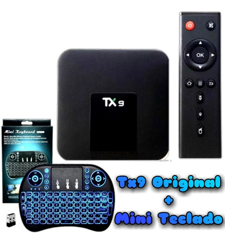 Tv Box Tx9 Original 4k 64gb Memória 4gb Ram + Mini Teclado