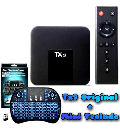 Tv Box Tx9 4k 64gb Preto C/memória 8 Gb Ram + Mini Teclado