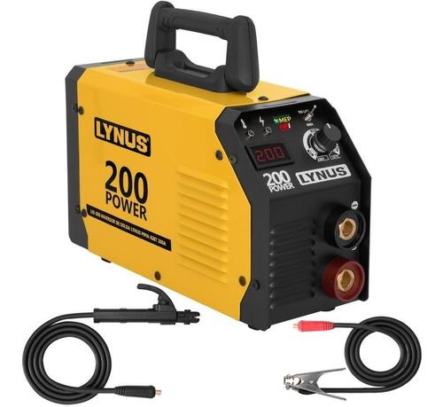 Máquina De Solda Inversora 200a Bivolt Lis 200 Lynus