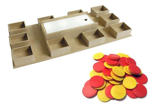 Caja Mackinder Con 100 Fichas Bicolor