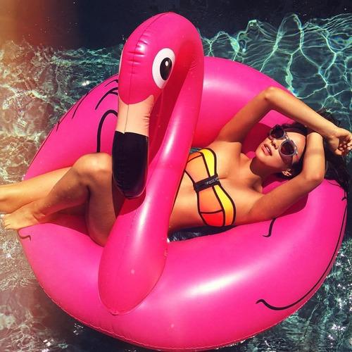 Boia Piscina Grande Flamingo Gigante Pink 122cm Promoção