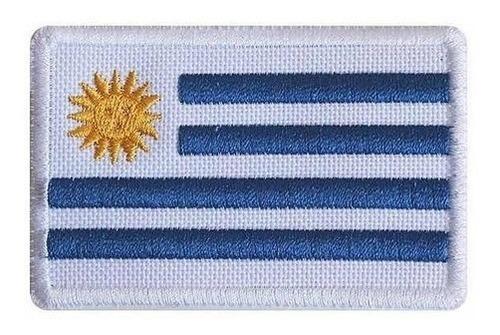 Parche Bandera Uruguay Bordada De 5 X 3cm. X 12 Unidades