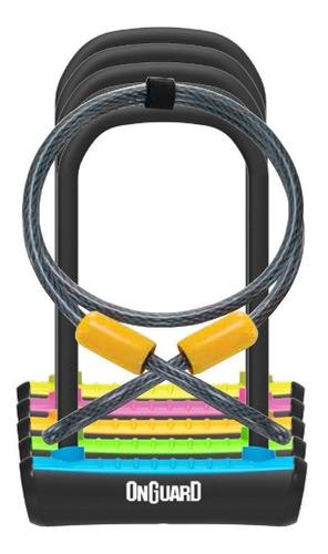 Candado Bicicleta Onguard Neon 8154 U Lock Con Guaya