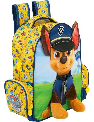 Mochila Escolar Costa Infantil Patrulha Canina 3d Tam M