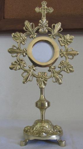 Ostensório Hóstia Igreja Bronze Igreja Altar Sacra Missa Fé
