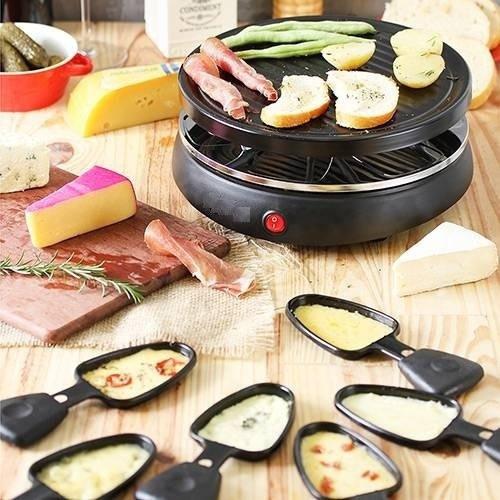 Raclette Grill Britânia Bra01p Para 6 Pessoas 220v - Sjuros