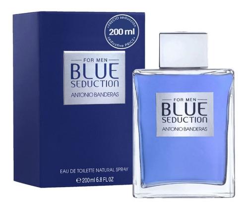Antonio Banderas Blue Seduction Hombre 200ml Edt Silk P.