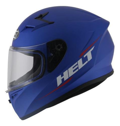Capacete Para Moto Integral Helt Street Polar Azul Tamanho 58