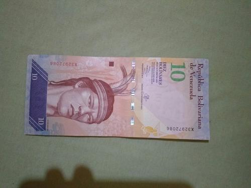 Cedula 10 Bolivares Mbc Venezuela 7$ Frete