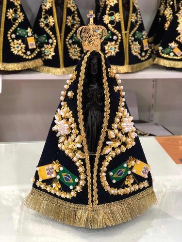 Nossa Senhora Aparecida 20cm - Terra Cota - Oficial C/ Coroa