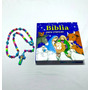 Kit Bíblia E Terço Infantil Crianças Azul Black Friday