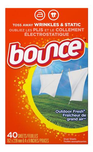 Hojas Secadoras Suavizantes Bounce Aroma Aire Fresco 40 Un