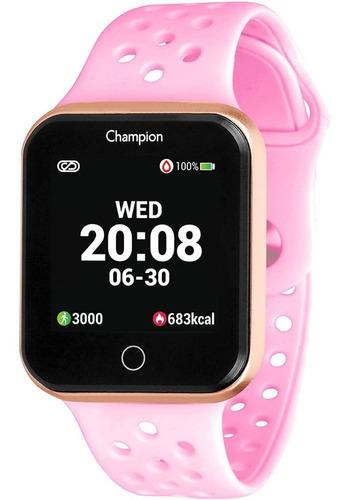 Relógio Champion Smartwatch Bluetooth 4.0 Rosé Rosa