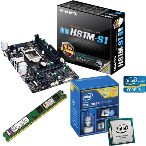 Kit Intel I5 4440 Gigabyte H81m-s1 8gb 1333mhz Kingston