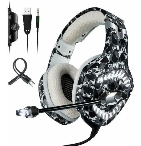Onikuma K1b Pro Army Ps4 Camo Winter Gamer Headphones