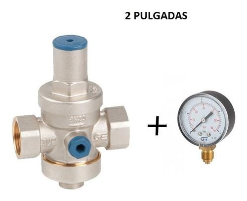 Valvula Reductora De Presion Genebre 2 Pulgadas + Manometro