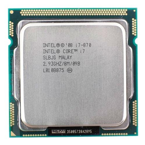 Processador Gamer Intel Core I7-870 Bv80605001905ai De 4 Núcleos E 2.9ghz De Frequência