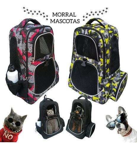 Bolso Morral Transportador Mascotas