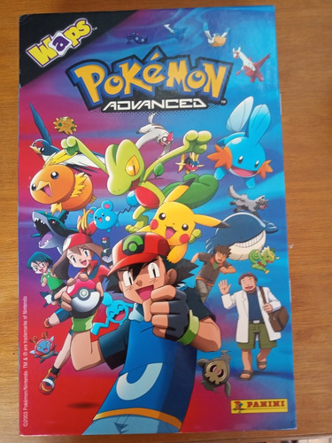 Álbum Pokémon Advanced Waps + Pasta/envelope Panini Completo