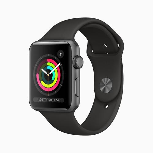 Apple Watch Series 3 (gps) 42mm Com Pulseira Esportiva Preta