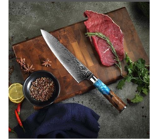Cuchillo De Cocina Acero Damasco Vg10 8 Pulgadas