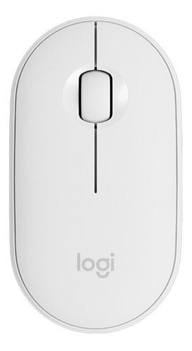 Mouse Sem Fio Logitech  Pebble M350 Branco-cru