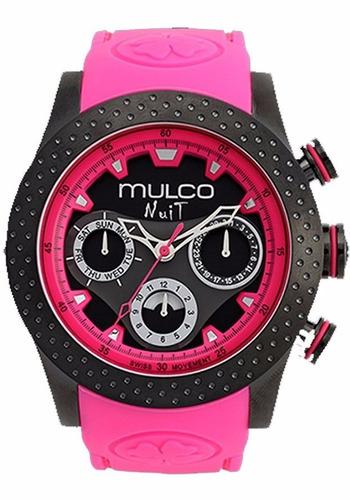 Mulco Nuit Suizo Cronografo Calendario Dama Nuevo %100 Origi