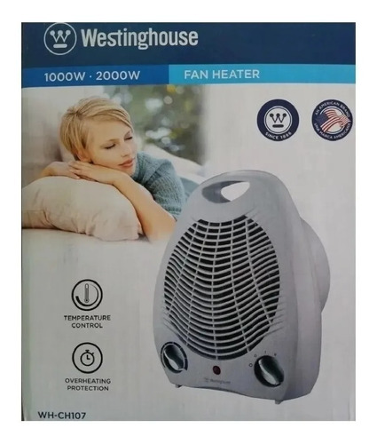 Caloventor Electrico Westinghouse Wh-ch107 Blanco 2000w