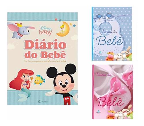 Livro Diário Bebe Rosa Ou Azul Recordações Infantil