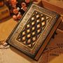 Fashion Black Vintage Journal Diary Notebook Couro Capa Dura