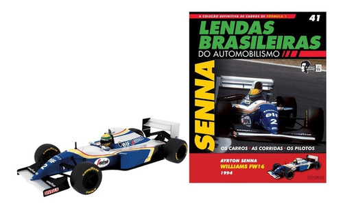 Mini Lendas Brasileiras Williams Fw16 1994  Senna Ed. 41