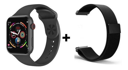 Relógio Smartwatch Inteligente + 2 Pulseiras De Metal Barato