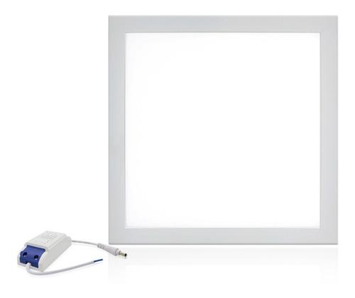 Plafon Painel Led 25w Embutir Quadrado Slim Branco Luz Frio