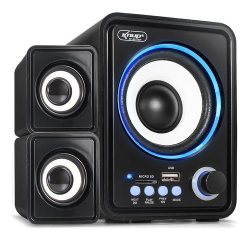 Caixa De Som Subwoofer 2.1 Bluetooth Usb Sd P2 Pc Celular Tv