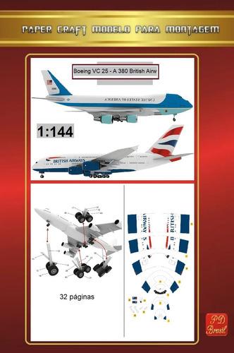 A380 British Airways & Boeing Vc25 - Kit Impresso