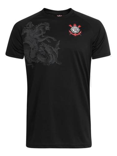 Camisa Corinthians Sao Jorge Guerreiro Preta Colecionador