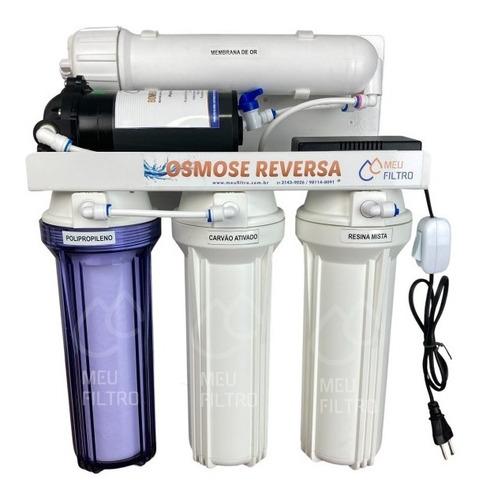 Filtro Osmose Reversa Deionizador  4 Etapas 100gpd Com Bomba